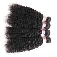 Wholesale malaisien vierge cheveux bundles humides et ondulés afro kinky bouclés vague d'eau de vague d'eau bouclée