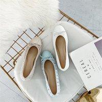 Junetxin flache feste Schuhe für Frauen Komfortables Echtes Leder Dame Schuhe Marke Schaffell Atmungsaktiv für Frau Heels1