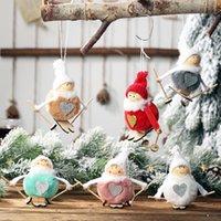 1 шт лыжи Снеговик Подвеска висячей Пушистых кукол для рождественской елки Малых рождественских украшений игрушки Новогоднего украшения для дома