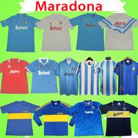 Napoli 1986 1987 1988 1989 1990 1991 Maradona 레트로 나폴리 축구 유니폼 1981 1995 1996 클래식 빈티지 Boca Juniors 축구 셔츠 홈