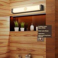 Chinese Retro 20W 24W 36W LED Wall Mount Lamp Fixture Bathroom Mirror Front Light SMD 2835 Acrylic Washroom