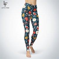 Yeni Noel Tayt Kadın Kış Sıcak Pantolon Yüksek Elastik ve Rahat Artı Szie Gingerbread Adam Baskılı Legging 201125