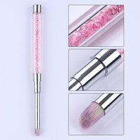1 PC Gradient Zeichnung Malerei Pinsel Rosa Rhinestone Griff UV Malerei Pen DIY Für Nail Art Design Tool