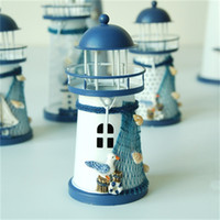 지중해 스타일 철 등대 촛대 홈 가구 데스크탑 캔들 홀더 아이언 하우스 홈 장식 장식 도매 5 8ZSH1