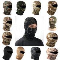 DHL Camouflage Maschera da sci Tactical Hood Skullies Berretti per uomo Donne Moto BALACLAVA Copricapo Sport Sport Cycling Hat DB405