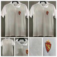 1994 1995 Echtes Zaragoza Retro Fussball Jersey 94 95 Camisetas de Fútbol Poyet Pardeza Nayim Higuera Vintage Classic Football Hemd Thailand