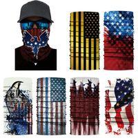 الأمريكية العلم الوطني ماجيك وشاح USA أعلام باندانا نصف قناع الوجه 25 * 50CM العصابة العمامة المشي لمسافات طويلة دراجات تزلج قناع CYZ2915