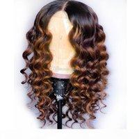 الدانتيل الكامل شعر الإنسان الباروكات أومبير اثنين من لهجة 1 ب 30 فضفاض متموجة البرازيلي العذراء الشعر 150 الكثافة شعري الطبيعي غلويليس طقم عقدة