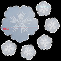 Çiçek Çay Tepsi Coaster Kalıp Seti DIY El Yapımı Kristal Epoksi Reçine Silikon Kalıplar Beyaz Kalıp Sıcak Satış 32QZ J2