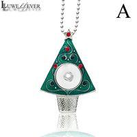 قلادة القلائد luwellever شجرة عيد الميلاد القابلة للتبديل كريستال الزنجبيل قلادة 031 صالح 18 ملليمتر المفاجئة زر سحر مجوهرات للنساء هدية