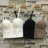 Moda Mesh Push Up Bralet Womens Corsetto Bustier Bra Night Club Party Long Sexy Top Vest Plus Size AW514
