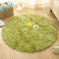 Carpets Fluffy Round Rug For Living Room Kilim Faux Fur Carpet Kids Long Plush Rugs Bedroom Shaggy Area White31