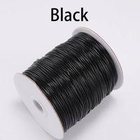 10m / lote 1.0 1.0 1,5mm preto branco de algodão encerado fio cordão corda corda fit beading artesanato DIY colar para jóias fazendo wmtsuz