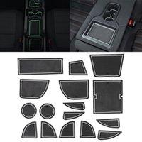 자동차 워터 컵 게이트 슬롯 매트 Mazda CX-5 2013-2014 용 플라스틱 흰색 발광 안티 슬립 인테리어 도어 패드