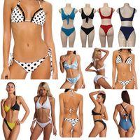 Üç Bayan Bikini Set Mayo Spor Sutyen Yelek + Pantolon Tayt Seksi Halter Mayolar Yüzme Suit Kadınlar Için Thong Bikini Moda