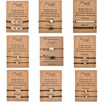 Nuevos maniculares Charm Pulsera para amistad Parejas 2 stks / set Volcanic Stone Kraal Bracelets Mujeres Hombre Joyería afortunada