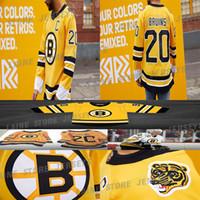 2020-21 리버스 레트로 보스턴 Bruins Jersey 88 David Pastrnak 37 Patrice Bergeron 63 Brad Marchand 74 Jake Debrusk Hockey Jerseys