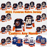 New York Islanders 2021 Reverse Retro Hockey Jersey 8 Noah Dobson Jersey Anthony Beauvillier Oliver Wahlstrom johnny boychuk cucito personalizzato