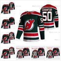 New Jersey Devils 2021 Retro retro mujer Jack Hughes Corey Crawford PK Subban Nico Hischier Wayne Simmonds Cory Schneider Brodeur Jerseys
