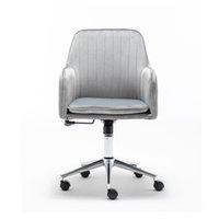 WACO середина регистрации ресепшн офис бархатный стул, MORDERN Мебель для дома Коммерческий коммерческий комфорт Comfort Task Desk с боковыми руками регулируемая высота (серый)