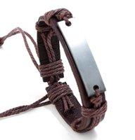 Oryginalna skórzana bransoletka biżuteria Bransoletka mankiet Pewter Bransoletki Urok Bransoletki Darmowe Wysyłka1482