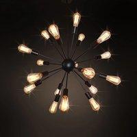 E27 лампочки Edison Vintage Industrial Loft подвесной свет 12/16/18/20 головной клетки спутника подвеска лампака110V 220V ресторан бар огней I475
