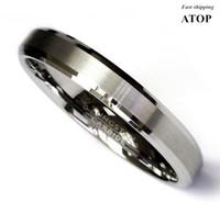 티타늄 컬러 2 톤 텅스텐 카바이드 웨딩 밴드 남성 반지 신부 보석 Y1124