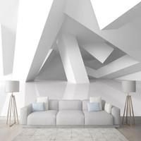Benutzerdefinierte Tapete Wandbilder 3d stereoskopische Raum Geometrische Muster Wandmalerei Modern Wohnzimmer Dekoration Wandbild Wallpaper1