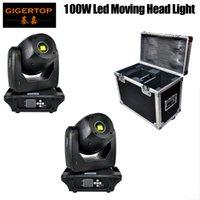 2IN1 Flight-Pack 100W High Power Mini-LED-bewegliches Hauptlicht DMX512 / Sound / Auto Lauf 13 Kanäle mit hohen Helligkeit Glatt Pan Tilt Verschieben