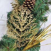 Konstgjorda gröna blad krans julgran dekoration ytterdörr blomma krans skal gräs boxwood för dörr vägg fönster fest hhe3377