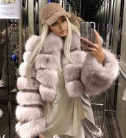 Hot selling plus size 3xl 4xl fur coat imitation fox fur sti...