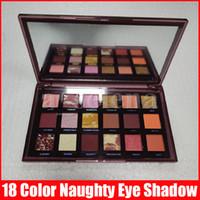 Sıcak Göz Makyaj Palmettes Yaramaz Çıplak 18 Renkler Göz Farı Pırıltılı Mat Göz Farı Preslenmiş Toz Paleti