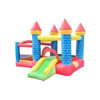 Compra Residencial Bouncers Infláveis Slide Garden Supplie Doméstica Casa Dupla Crianças Jumping Exercício de Exercício Família Família Início Uso com ventilador de ar