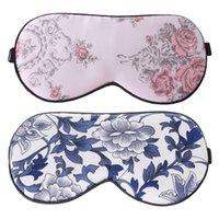 Eyeshade Eye Patch Silk Soft Sleep Masque Eye Sleep Masque Floral Imprimer Voyage de couchage Masques Bandage 1PC