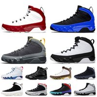 Nike air jordan retro 9 jordan 9 9s Jumpman 9 Gym Racer Routre Racer Bleu Basketball Chaussures Mens University Gold Space Jam pour hommes Baskets Sneakers