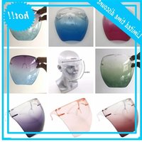 Plastic Safety Faceshield With Glasses Frame Transparent Full Cover Protective Mask Anti-fog Face Shield Clear Designer Masks OWB3213