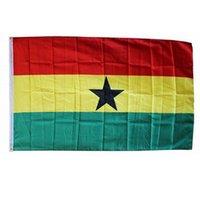 Ghana-Flaggen Land Nationalflaggen 3'X5'FT 100D Polyester lebendige Farbe Hohe Qualität mit zwei Messing-Tüllen