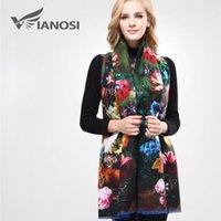 الأوشحة [Vianosi] EST تصميم باندانا الطباعة الشتاء وشاح المرأة شالات رشاقته الدافئة الصوف العلامة التجارية امرأة التفاف VA0701