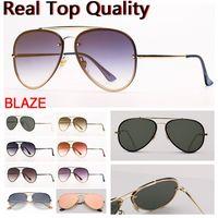 Pilot Womens Sonnenbrille Blaze Aviation Sonnenbrille Mode Sonnenbrille UV-Schutzlinsen und freies Ledertasche, Retail-Box Alle Zubehör!
