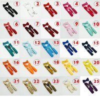 Arco para 32colors Lazo Set Kids 1-10T Baby Spings Elastic Y-Back Boys Girls Suspenders Accesorios