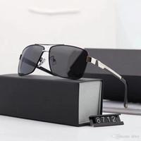 Nuevas gafas de sol polarizadas de gafas de sol de gama alta de gafas cuadradas retro gafas de conducción clásicas 8712 3 opciones de color