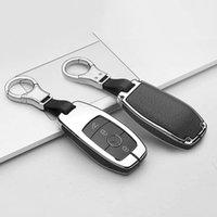 Coquille Cuir Clé Clé Clé Peau Peau 360 Degrés Protection pour Mercedes Benz E Classe S Classe W213 E400 E300 Noir