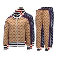 2021 Diseñador Tracksuirt Brand Tackets Jackets y pantalones Sweatshirt Casual Otoño Men Cremallera Chaqueta y pantalones M-3XL