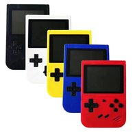 뜨거운 복고풍 휴대용 비디오 게임 콘솔 미니 핸드 헬드 게임 콘솔 400 SUP 게임 8 비트 3.0 인치 다채로운 LCD 크래들 디자인