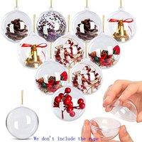 Ornamentos claros redondos ornamentos de esferas de plástico ornamentos enchimento bola bola para decorações de natal artesanato 5cm 8cm hh9-3696