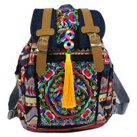 Tribal Vintage Hmong Thaï ethnique Boho Hippie Sac ethnique, sac à dos sac à dos SYS-174