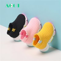 AOGT Otoño Infantil Niña Niña Cómodo Malla transpirable Bebé Bebés Zapatos Moda Casual Soft Sofet Sneakers Y201028