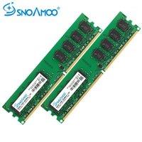 RAMS Snoamoo Desktop PC DDR2 4GB (2x2GB) 800 ميجا هرتز PC2-6400S 240-PIN 1.8V DIMM ل INTEL و AMD متوافق مع ذاكرة الكمبيوتر 1