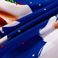 4 قطعة / المجموعة القطن 3d النوم مجموعة عيد ميلاد سعيد هدية سانتا كلوز جيب عميق الفراش مجموعة أغطية السرير غطاء السرير 2 سادات