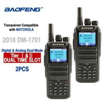 2pcs Baofeng DM-1701 Цифровой Walkie Talkie 10 км Аналоговый Woki Токи CB Radio DMR Radio Comunicador Dual Band Dm 1701 Приемопередатчик